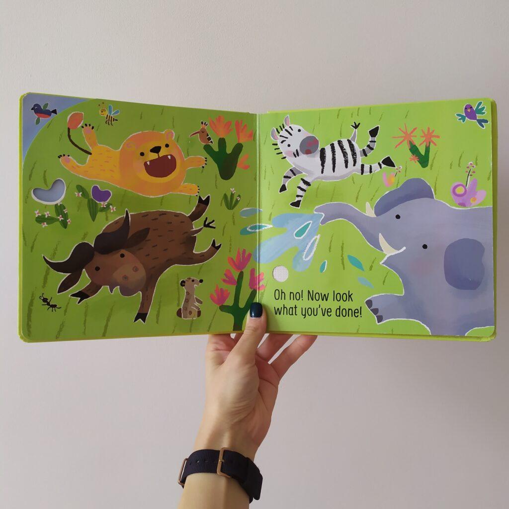 Don't tickle the Lion Usborne - otwarta książka